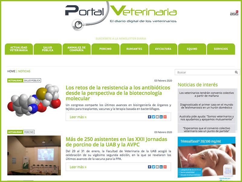 Nace Portal Veterinaria, con la información más relevante para los profesionales veterinarios
